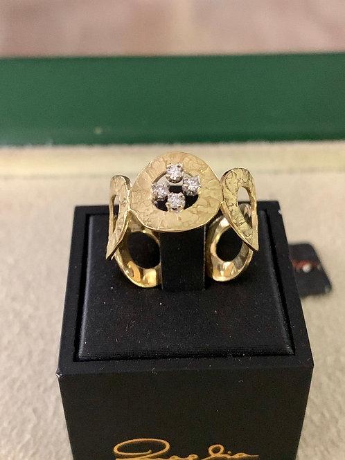 Anello Luigi Quaglia in oro giallo e diamanti