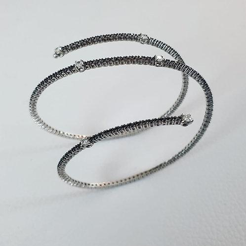 Bracciale in oro bianco con diamanti bianchi e neri