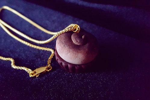 """Girocollo in argento dorato con ciondolo """"Tiramisu"""""""