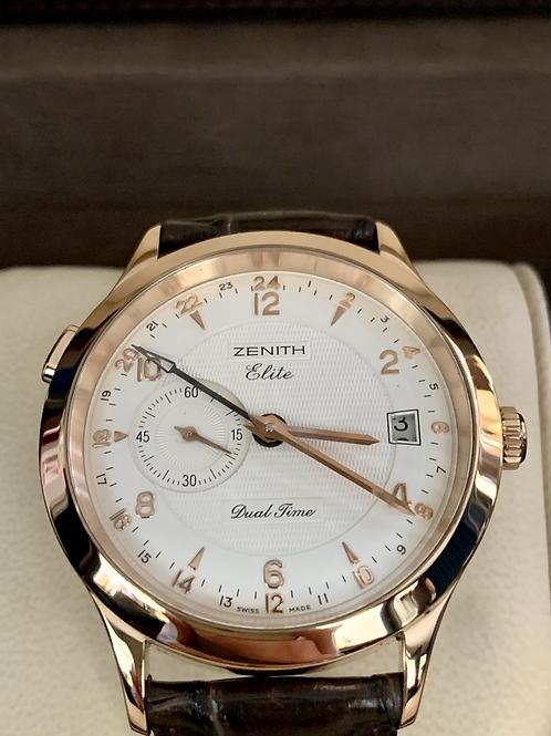 Zenith Class Elite Dual Time in oro rosa