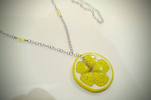 """Collana Artigianale """"Limone"""" in argento"""