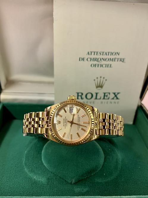 Rolex Lady Datejust in oro giallo