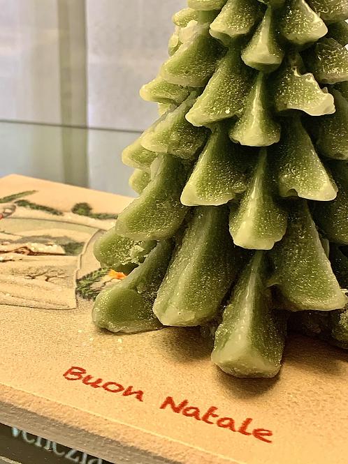 """Centrotavola con candela """"albero di Natale"""""""