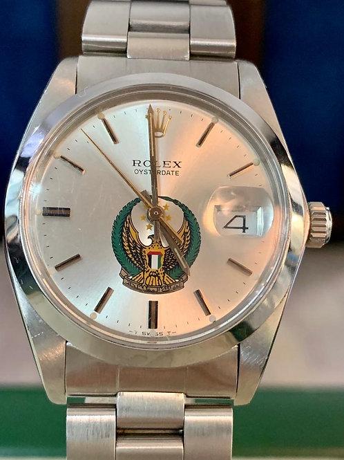 Rolex Oysterdate Precision Abu Dhabi logo
