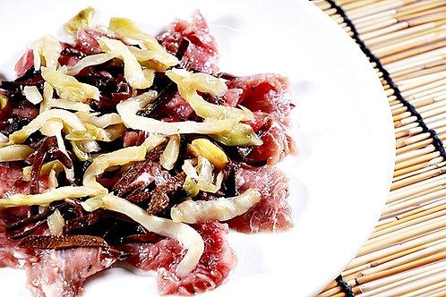 WSA5 白木耳絲陳皮搾菜蒸牛肉片 - 250g
