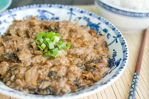 SW019 家鄉梅菜素肉餅(素新豬肉)(加熱即食)(6塊方形)