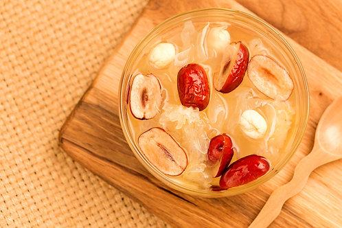 SSA019 (養顏補血抗衰老)勁量煲湯神器-雪耳茶樹菇紅棗花菇湯料包 ( 3-5人)