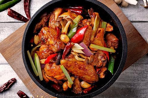WSB52 火鍋神器-蔥爆川香麻辣雞煲方便包(半隻雞) 400g