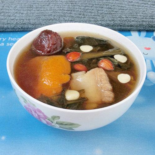 SSA024 (清熱潤肺強免疫) 勁量煲湯神器-菜乾花菇雪耳蜜棗果皮南北杏潤肺湯料包 ( 3-5人)(清甜)