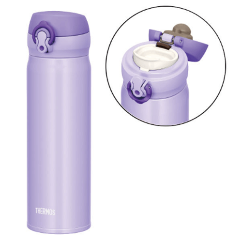 PAB013 Thermos 不鏽鋼冷熱保溫瓶 500ml 粉紫(一鍵即開版)
