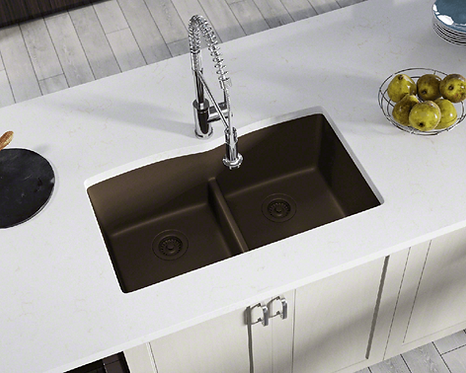 Double Bowl (Brown) Undermount Sink