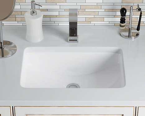 Large (White) Rectangle Porcelain Sink