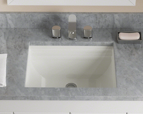 Small (Bisque) Rectangle Porcelain Sink