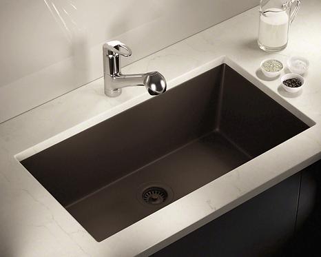 Single Bowl (Brown) Undermount Sink
