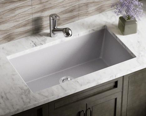 Single Bowl (Silver) Undermount Sink