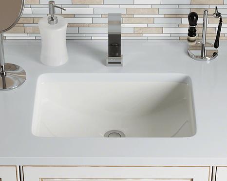 Large (Bisque) Rectangle Porcelain Sink