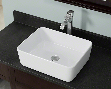 Small (White) Rectangle Porcelain Vessel Sink