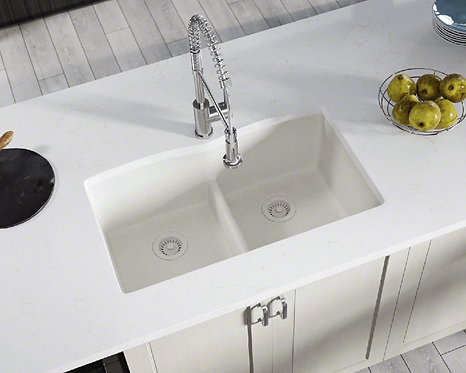 Double Bowl (White) Undermount Sink