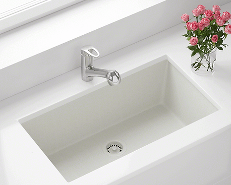Single Bowl (White) Undermount Sink