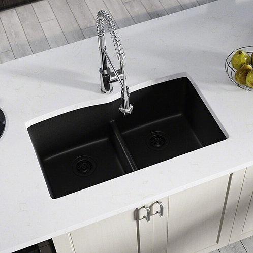 Double Bowl (Black) Undermount Sink