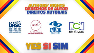 DASC y REDES firmaron con Caracol y RCN para la recaudación de derecho de autor en Colombia