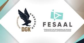 Os Diretores Coreanos assinam um acordo como associação aderente da FESAAL
