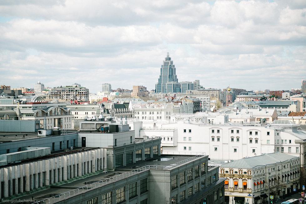 Необычный вид сверху на Москву.