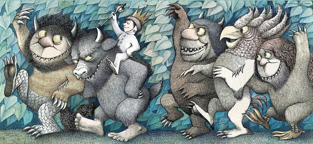 """It's about a young boy named Max who, after dressing in his wolf costume, wreaks such havoc through his household that he is sent to bed without his supper. Max's bedroom undergoes a mysterious transformation into a jungle environment, and he winds up sailing to an island inhabited by malicious beasts known as the """"Wild Things."""""""