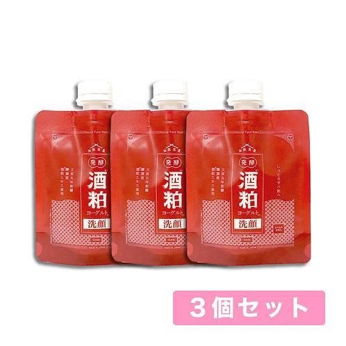 【送料無料】和肌美泉 発酵・酒粕ヨーグルト洗顔 100g x 3個セット