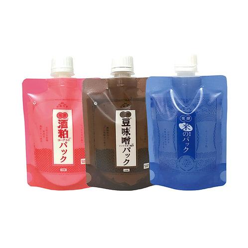 【送料無料】和肌美泉 極醸パック 150g x 3種セット(米/酒粕/豆味噌)