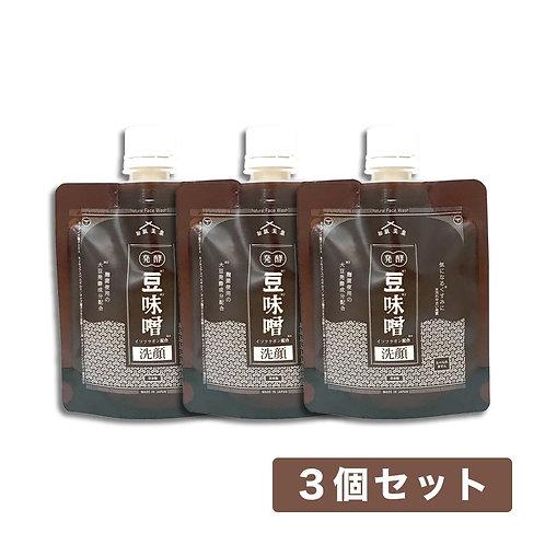 【送料無料】和肌美泉 発酵・豆味噌イソフラボン洗顔 100g x 3個セット