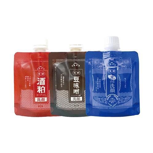 【送料無料】和肌美泉 極醸洗顔 100g x 3種セット(米/酒粕/豆味噌)