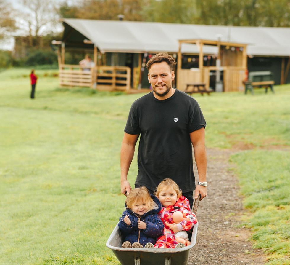rural glamping holidays UK with hot tub