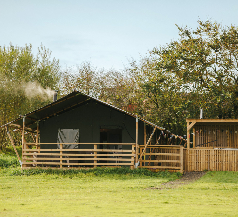 large safari tents to rent Gower South W