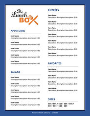 8.5x11 Limited Item Takeout Menu Templat