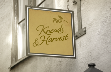Kneads & Harvest Bakery Signage Concept