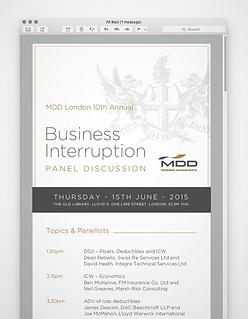 MDD Business Interruption Event eVite