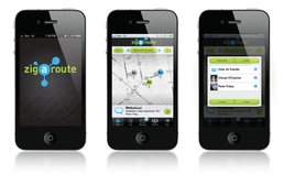 Zigaroute App Logo and UI Design