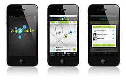Zigaroute App Logo and UI Design