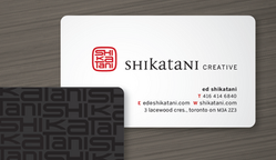 Shikatani Design Studio Business Card Design