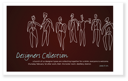 Designer's Collection Event Invitation