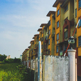 A Row of Buildings - Malacca City