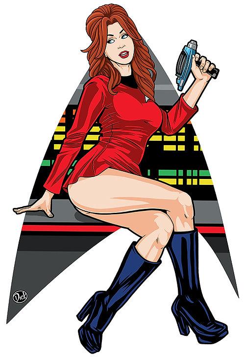 Red Shirt - 13x19 Print