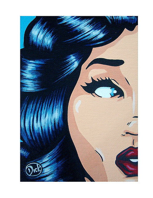 "SOLD  ""Blue Hair 1"" - Original painting"