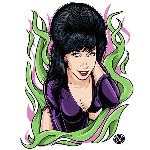 Elvira - 8.5x11 Print