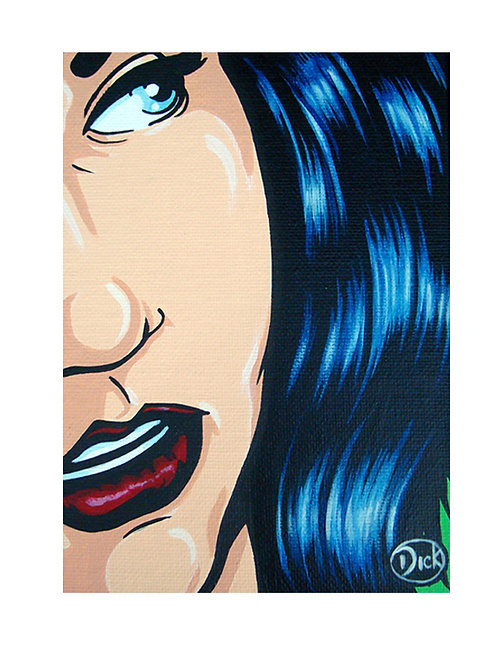 'Blue Hair 2' - Original Painting SOLD