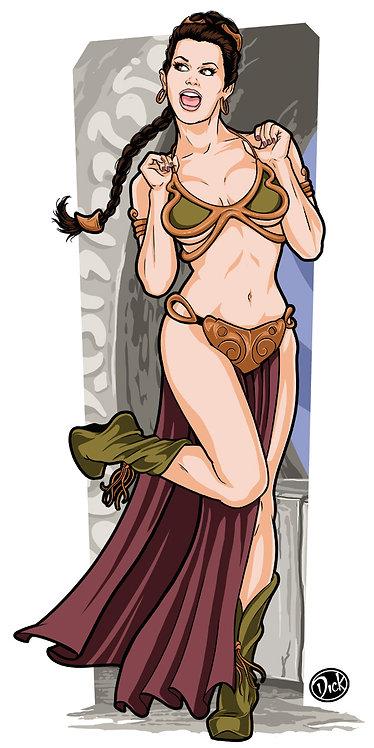 Slave Leia - 9x18 Print