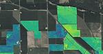 Cloud Agronomics carbon sequestration imaging overlaid onto a public map