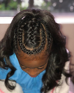 K I D S BRAIDED HAIRSTYLE
