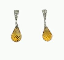 14K Citrine Briolette earrings